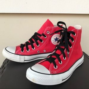 Converse CTAS Red High Top Sneakers